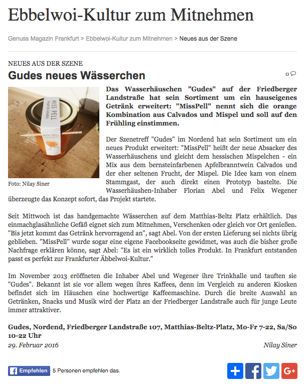 Genuss Magazin Frankfurt