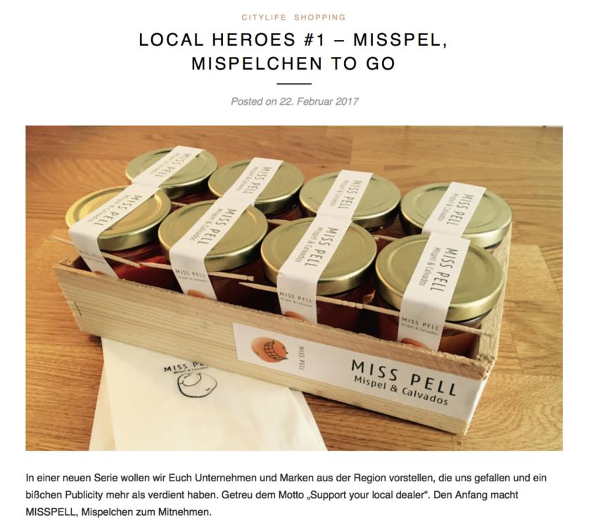 Bericht von Local Heroes über MISS PELL